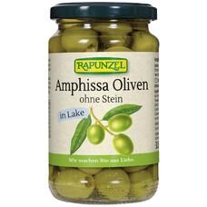 Masline Amphissa bio, verzi fără sâmburi, în saramură