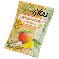 Bomboane bio cu ghimbir si mango