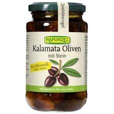 Masline Bio Kalamata violet cu sâmburi în ulei de măsline extravirgin